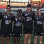 Some of the NT Thunder Academy players at Metricon Stadium