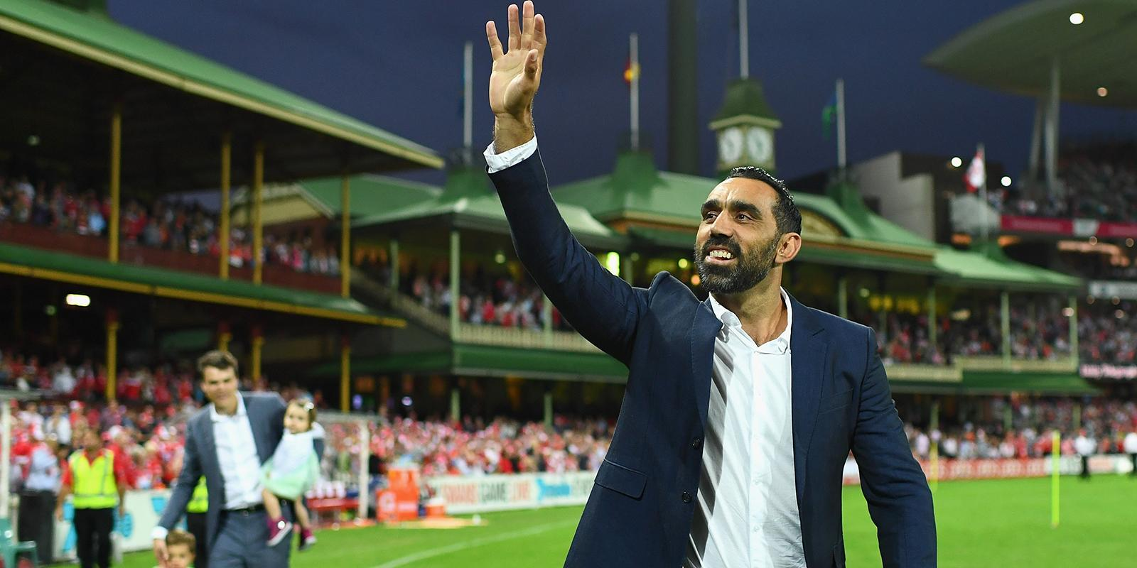 Adam Goodes says goodbye to footy