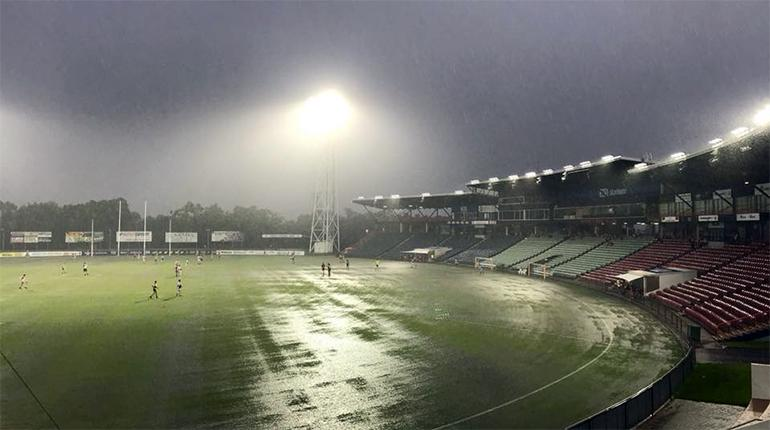Bad weather at TIO Stadium