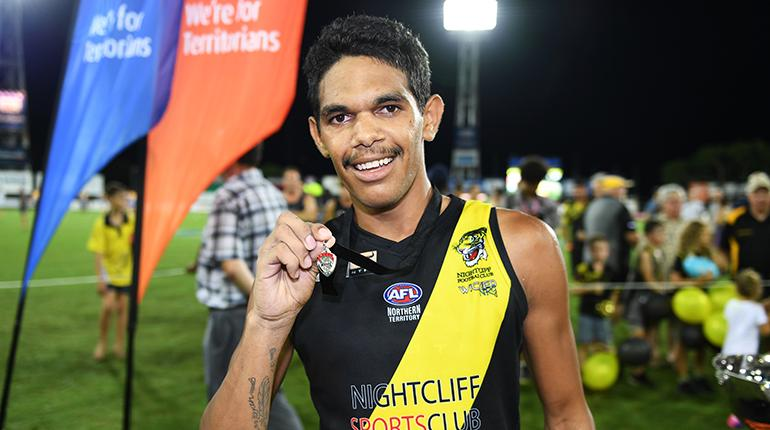 Liam Holt-Fitz with his Chaney Medal