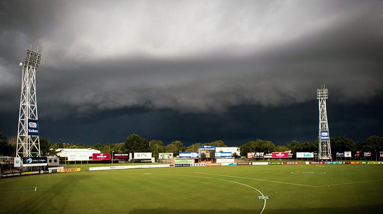 Storm clouds over TIO Stadium