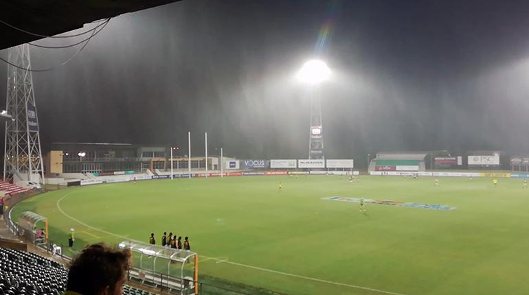 U18 Boys Preliminary Final has bad weather