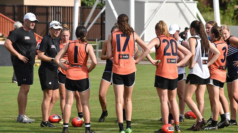 The NAB AFLW Academy in action