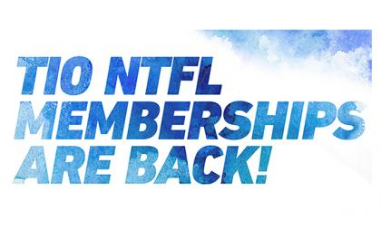 NTFL Memberships are back