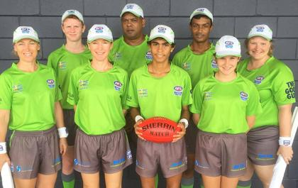 Umpires in the NTFL 2016/17 local Grand Final