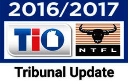 TIO NTFL MATCH REVIEW PANEL FULL STATEMENT: 2016/17 TIO NTFL SEASON