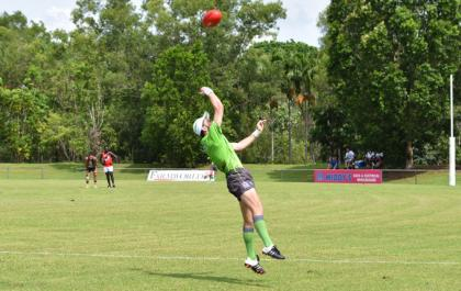 Going for the boundary throw in