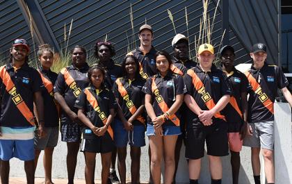 The students from Borroloola school