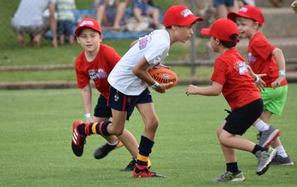 Auskick action in the NT
