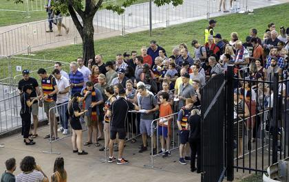 Queue for the AFL game in 2019