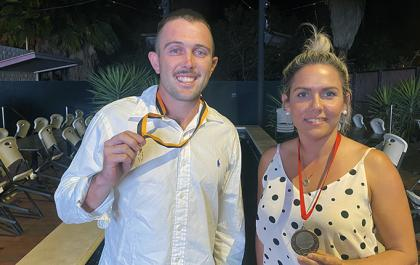 Abe Ankers and Kristin Remfrey at 2020 Minahan Medal
