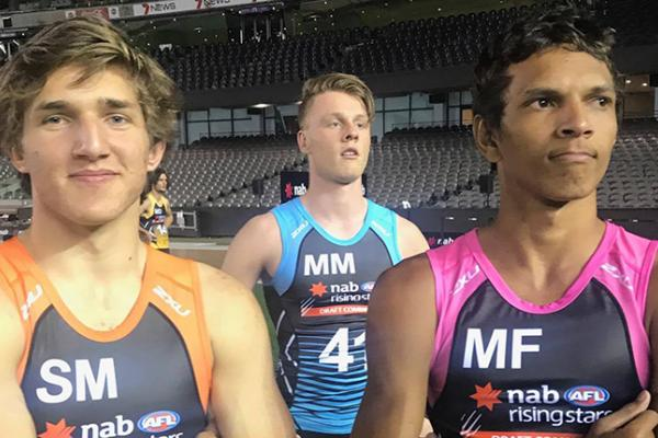 Adam Sambono and Zac Bailey at the 2017 AFL Draft