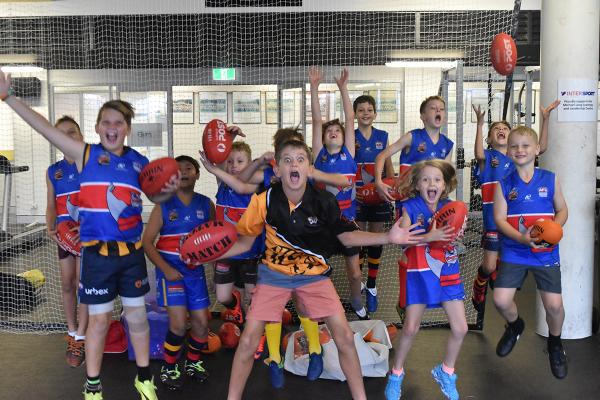 The kids having fun at the April school holiday program