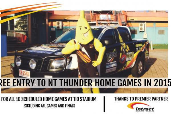 FREE ENTRY TO NT THUNDER MATCHES