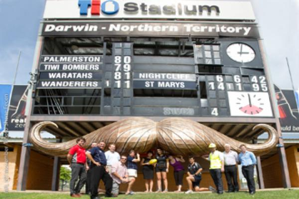 TIO STADIUM SCOREBOARD GROWS 'MO' FOR MEN'S HEALTH