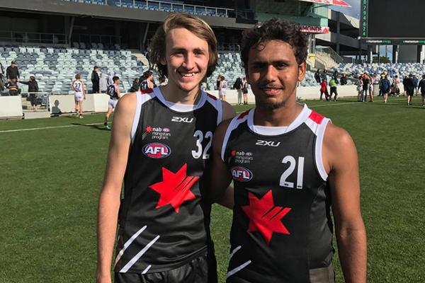 Matthew Green and Michael Mummery at the NAB academy training