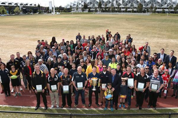 The 2017 AFL volunteer of the year winners