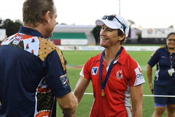 Colleen Gwynne after the 2018/19 NTFL premiership