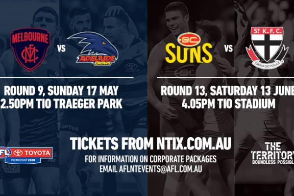 Tickets now on sale for AFL 2020