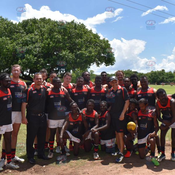 Tiwi Bombers with Community Manager Bernard Shepheard