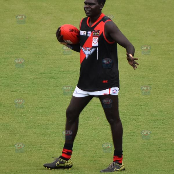Tiwi Bombers with the ball