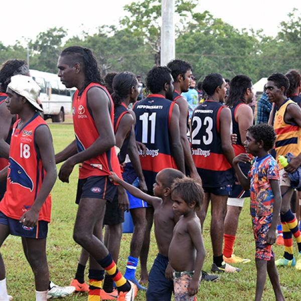 Good sportsmanship after the Wadeye GF