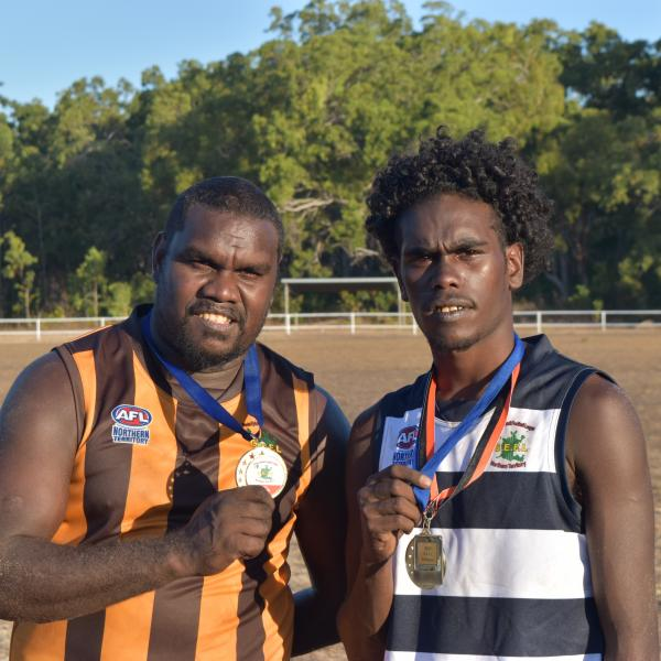 GEAFL grand final best on ground winners  Basil Bara – Hawks and Byron Marawili – Cats
