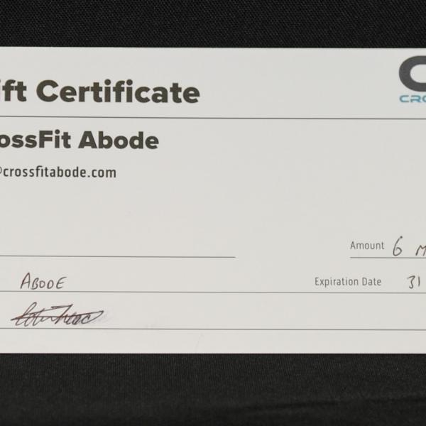 A 6 month membership that will have you looking fantastic thanks to Crossfit Aboode