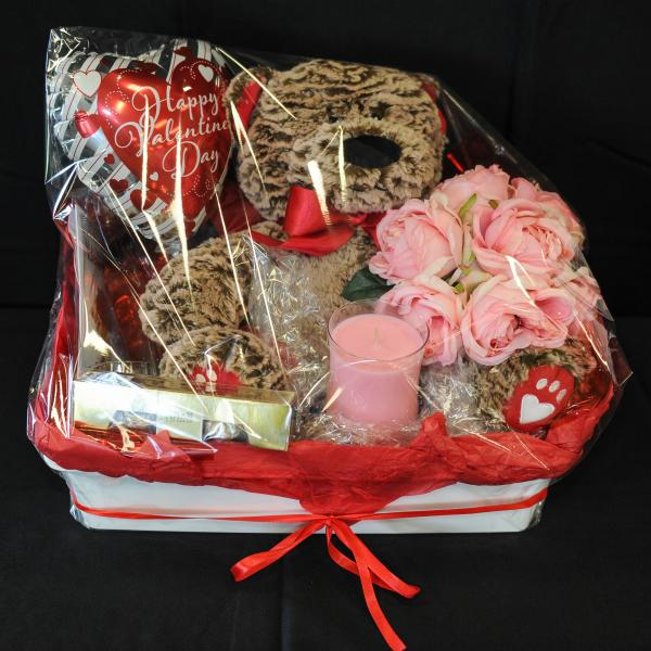 There's two Valentine's Day themed goodies hampers that will have you thanking Janice Johnson come Feb 14