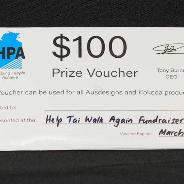 A $100 voucher to use on the great services provided by the wonderful people at Helping People Achieve