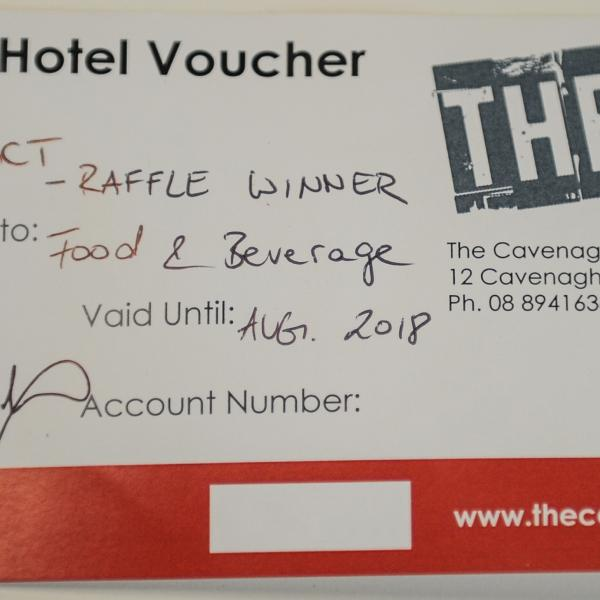 A $100 voucher to use on food and drink at The Cavanagh Hotel which is convenient for all those who like to eat and drink