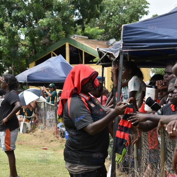 Tiwi supporters at their local oval