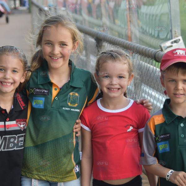 Tiwi Bombers and St Mary's kids together