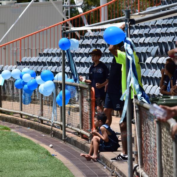 Darwin Buffaloes decking out their end of the ground