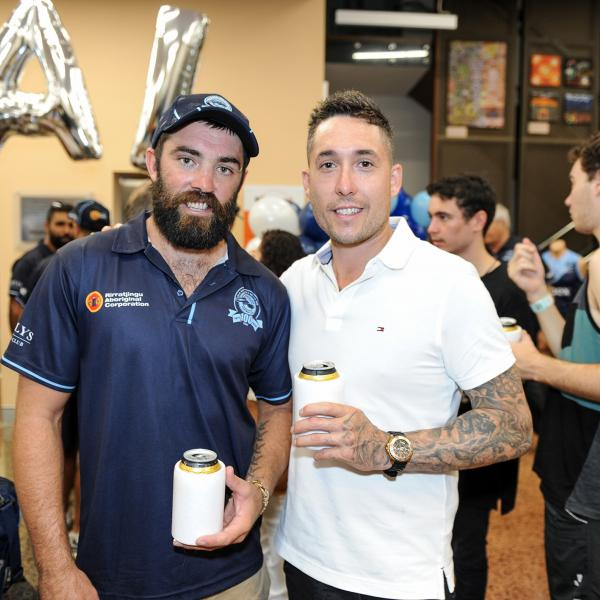 Tai's best mate Joel Palmer and Tai's brother, Jay