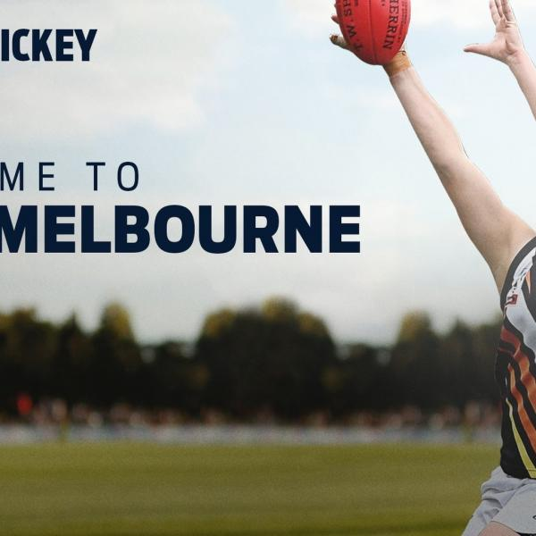 Jordann Hickey is selected by the Melbourne Demons