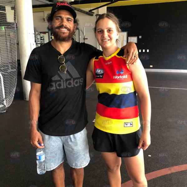 Danielle Ponter with older cousin Cyril Rioli