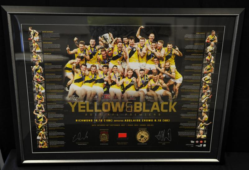 Yellow and Black Richmond 2017 Premiers dual signed litho
